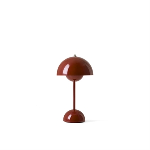 &Tradition Flowerpot VP9 Lampe à Poser Portable Rouge Brun