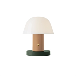 &tradition Setago JH27 Lampe de Table Beige & Vert
