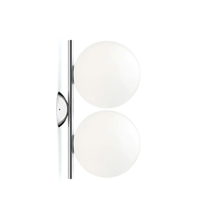 Flos IC C/W1 Double Applique Murale Chromé