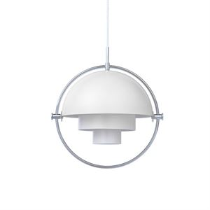Gubi Multi-Lite Suspension Chrome & Blanc