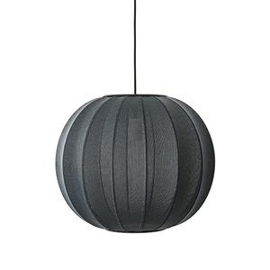 Made By Hand Knit-Wit Round Suspension Noir Ø45