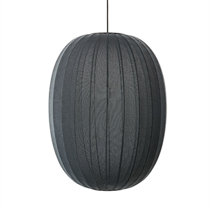 Made By Hand Knit-Wit Oval Suspension Noir Ø65
