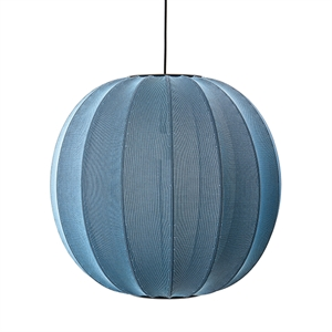 Made By Hand Knit-Wit Round Suspension Blue Stone Ø60