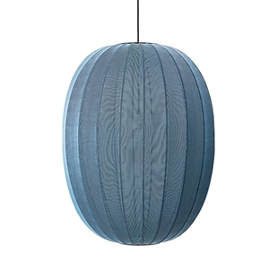 Made By Hand Knit-Wit Oval Suspension Blue Stone  Ø65