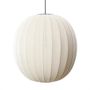 Made By Hand Knit-Wit Round Suspension Pearl White  Ø75