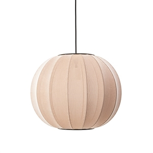 Made By Hand Knit-Wit Round Suspension Sand Stone  Ø45