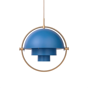 GUBI Multi-Lite Suspension Laiton & Bleu