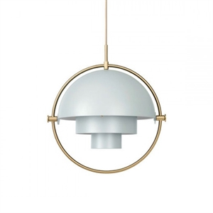 GUBI Multi-Lite Suspension Gris & Laiton