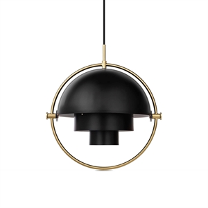 GUBI Multi-Lite Suspension Noir Charbon & Laiton